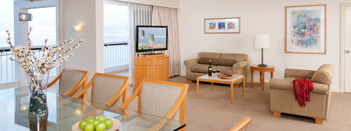 מלון דיוויד ריזורט ספא ים המלח - סוויטת מצדה